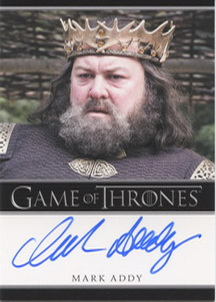 Mark Addy as King Robert Baratheon (Bordered) <FONT COLOR=BLUE SIZE=-1>Limited  (Lower End) </FONT>
