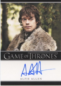 Alfie Allen  as Theon Greyjoy (Bordered) <FONT COLOR=BLUE SIZE=-1>Limited  (Upper End) </FONT>