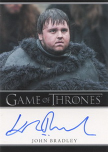 John Bradley as Samwell Tarly (Bordered) <FONT COLOR=BLUE SIZE=-1>Limited  (Upper End) </FONT>
