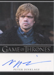 Peter Dinklage (Tyrion Lannister) Autograph Card
