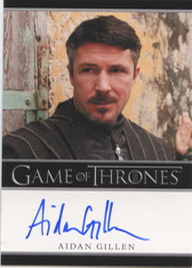 Aidan Gillen as Petyr Baelish <U><I>Littlefinger</I></U>  (Bordered) <FONT COLOR=BLUE SIZE=-1>Limited  (Upper End) </FONT>