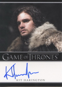 Kit Harington as Jon Snow (Bordered) <FONT COLOR=BLUE SIZE=-1>Limited  (Lower End) </FONT>