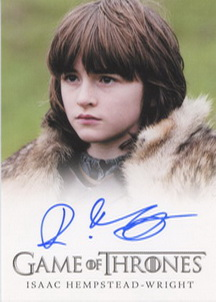 Isaac Hempstead-Wright as Bran Stark (Full-Bleed) <FONT COLOR=BLUE SIZE=-1>Limited  (Upper End) </FONT>