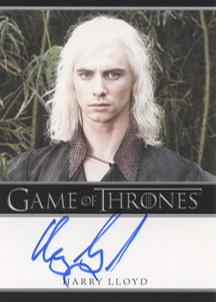 Harry Lloyd as Viserys Targaryen (Bordered) <FONT COLOR=BLUE SIZE=-1>Limited  (Upper End) </FONT>