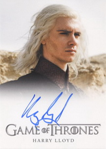 Harry Lloyd as Viserys Targaryen (Full-Bleed) <FONT COLOR=BLUE SIZE=-1>Limited  (Upper End) </FONT>
