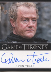 Owen Teale as Alliser Thorne (Bordered) <FONT COLOR=BLUE SIZE=-1>Limited  (Upper End) </FONT>