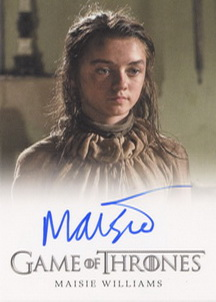 Maisie Williams as Arya Stark (Full-Bleed) <FONT COLOR=BLUE SIZE=-1>Limited  (Upper End) </FONT>