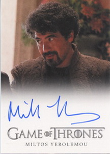 Miltos Yerolemou as Syrio Forel (Full-Bleed) <FONT COLOR=BLUE SIZE=-1>Limited  (Upper End) </FONT>
